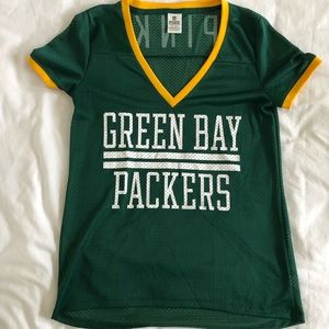 PINK Victoria's Secret Tops - Victoria Secret Pink Green Bay Packers Jersey